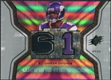 2007 Upper Deck SPx Winning Materials Stat #WMSTW Troy Williamson