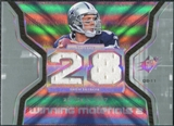 2007 Upper Deck SPx Winning Materials Stat Dual #WMSDR Drew Bledsoe