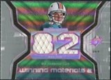 2007 Upper Deck SPx Winning Materials Stat Dual #WMSJB John Beck