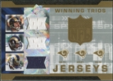 2007 Upper Deck SPx Winning Trios Jerseys #BHS Marc Bulger/Torry Holt/Steven Jackson