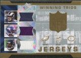 2007 Upper Deck SPx Winning Trios Jerseys #CWM Kevin Curtis Troy Williamson Muhsin Muhammad