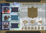 2007 Upper Deck SPx Winning Trios Jerseys #JTJ Thomas Jones/Fred Taylor/Steven Jackson