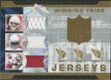 2007 Upper Deck SPx Winning Trios Jerseys #LJB Matt Leinart/Edgerrin James/Anquan Boldin