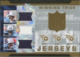 2007 Upper Deck SPx Winning Trios Jerseys #YBG Vince Young/Chris Brown/David Givens