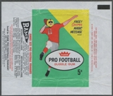 1961 Fleer Football Wrapper (2nd series)