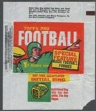 1960 Topps Football Wrapper (1 cent)