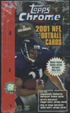 2001 Topps Chrome Football 24-Pack Retail Box