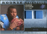 2009 Upper Deck SPx Rookie Materials Dual Swatch Patch #RMBP Brandon Pettigrew /99