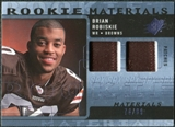 2009 Upper Deck SPx Rookie Materials Dual Swatch Patch #RMBT Brian Robiskie /99