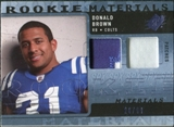 2009 Upper Deck SPx Rookie Materials Dual Swatch Patch #RMDB Donald Brown /99