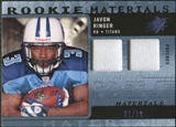 2009 Upper Deck SPx Rookie Materials Dual Swatch Patch #RMJR Javon Ringer /99