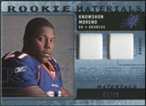 2009 Upper Deck SPx Rookie Materials Dual Swatch Patch #RMKM Knowshon Moreno /99