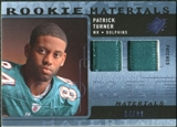 2009 Upper Deck SPx Rookie Materials Dual Swatch Patch #RMPT Patrick Turner /99