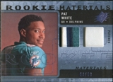 2009 Upper Deck SPx Rookie Materials Dual Swatch Patch #RMPW Pat White /99