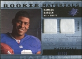 2009 Upper Deck SPx Rookie Materials Dual Swatch Patch #RMRB Ramses Barden /99