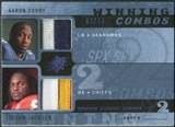 2009 Upper Deck SPx Winning Combos Patch #CJ Aaron Curry/Tyson Jackson /25