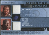 2009 Upper Deck SPx Winning Combos Patch #RM Brian Robiskie/Mohamed Massaquoi /25