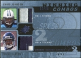 2009 Upper Deck SPx Winning Combos Patch #SJ Chris Johnson/Steve Slaton /25