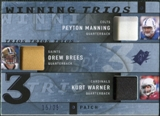 2009 Upper Deck SPx Winning Trios Patch #QB1 Peyton Manning/Drew Brees/Kurt Warner /25