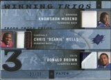2009 Upper Deck SPx Winning Trios Patch #RRB Knowshon Moreno/Chris Wells/Donald Brown /25