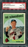 1959 Topps Baseball #480 Red Schoendienst PSA 8 (NM-MT) *1187