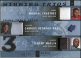 2009 Upper Deck SPx Winning Trios Patch #RWR Michael Crabtree/Darrius Heyward-Bey/Jeremy Maclin /25