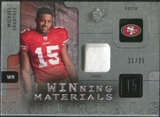 2009 Upper Deck SPx Winning Materials Patch #WCR Michael Crabtree /99