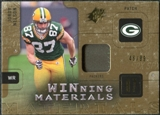2009 Upper Deck SPx Winning Materials Patch #WNE Jordy Nelson /99