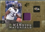 2009 Upper Deck SPx Winning Materials Patch #WRA Ray Lewis /99
