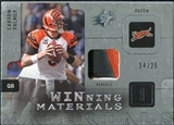 2009 Upper Deck SPx Winning Materials Patch Platinum #WCP Carson Palmer /25