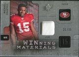 2009 Upper Deck SPx Winning Materials Patch Platinum #WCR Michael Crabtree /25