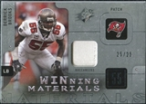 2009 Upper Deck SPx Winning Materials Patch Platinum #WDE Derrick Brooks /25