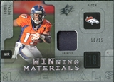 2009 Upper Deck SPx Winning Materials Patch Platinum #WER Eddie Royal /25