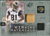2009 Upper Deck SPx Winning Materials Patch Platinum #WHO Torry Holt /25