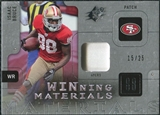 2009 Upper Deck SPx Winning Materials Patch Platinum #WIB Isaac Bruce /25