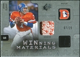 2009 Upper Deck SPx Winning Materials Patch Platinum #WJE John Elway 07/25