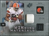 2009 Upper Deck SPx Winning Materials Patch Platinum #WJL Jamal Lewis /25