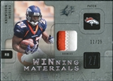 2009 Upper Deck SPx Winning Materials Patch Platinum #WKM Knowshon Moreno /25