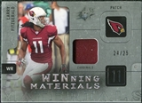 2009 Upper Deck SPx Winning Materials Patch Platinum #WLF Larry Fitzgerald /25