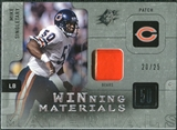 2009 Upper Deck SPx Winning Materials Patch Platinum #WMS Mike Singletary /25