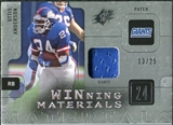 2009 Upper Deck SPx Winning Materials Patch Platinum #WOA Ottis Anderson /25