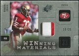 2009 Upper Deck SPx Winning Materials Patch Platinum #WRC Roger Craig /25