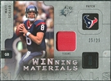 2009 Upper Deck SPx Winning Materials Patch Platinum #WSC Matt Schaub /25