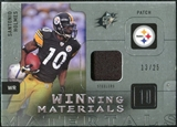 2009 Upper Deck SPx Winning Materials Patch Platinum #WSH Santonio Holmes /25
