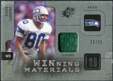 2009 Upper Deck SPx Winning Materials Patch Platinum #WSL Steve Largent /25