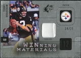 2009 Upper Deck SPx Winning Materials Patch Platinum #WTB Terry Bradshaw /25