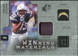 2009 Upper Deck SPx Winning Materials Patch Platinum #WVJ Vincent Jackson /25