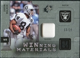2009 Upper Deck SPx Winning Materials Patch Platinum #WWA Javon Walker /25
