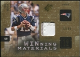 2009 Upper Deck SPx Winning Materials Patch #WBR Tom Brady 13/99