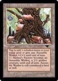 Magic the Gathering Antiquities Single Mishra's Factory (spring) - MODERATE PLAY (MP)